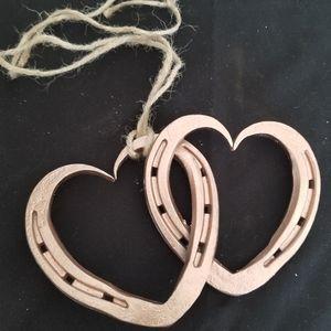 Hand Forged Horseshoe Hearts- Gold